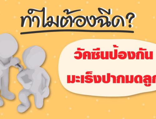 ไขข้อข้องใจ ทำไมต้องวัคซีนป้องกันมะเร็งปากมดลูก?